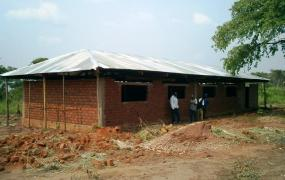 Second finished school building made out of bricks.