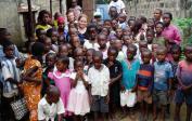 Wolfgang & Genevieve at the orphanage Molende outside Kinshasa.