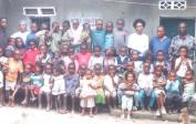 Recent pictures of Pastor Theophile (far right) and helpers with children at SABEC in Kisenso, Kinshasa, Congo DRC.