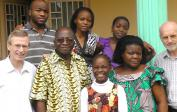 Staying with the family of Prof. Mpona, our friend in Kinshasa since 2003.
