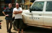 Denys-Manager Kurt fuhr uns durch ganz Tshikapa.