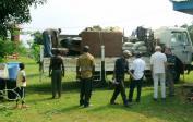 Zweite LKW-Ladung unserer Sachen aus Kinshasa auf der Farm.