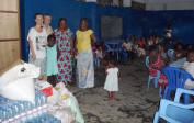 Lenka, Wolfgang and Anissa at orphanage in Kinshasa.
