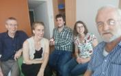 L to R: Rudolf, Melanie, Jens, Angela and Wolfgang at our ADH meeting in Berlin to plan organisational changes.