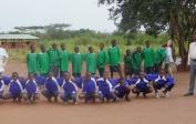 All the pupils were excited about the new soccer jerseys