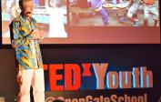 Wolfgang giving TED talk at Open Gate School in Babice near Prague