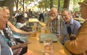 Munich TV interview with (left) G. Steinberg, Lenka, Anissa and (right) Jos, Wolfgang, Chr. Griebel
