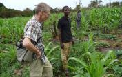 Wolfgang with agronomist Alain in Lebama's fields