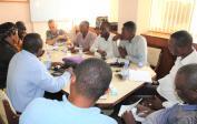 ...with Gilbert and BBK members in Kinshasa