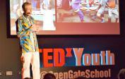 """Wolfgang bei der """"Open Gate School"""" TEDx Youth-Veranstaltung in Babice bei Prag"""