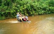 (10) Cesta do Mushapa na taxi motorce...