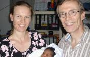 3. Anissa, 3 days old, with Lenka and Wolfgang