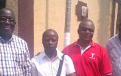 "5. Members of the ""ADH Congo Asbl"" - CEO Gilbert Nkuli, Ing. Jean Vita, Prof. André Kapanga and Prof. François Mpona"