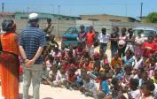 20. 2005: Visiting schools in South Africa